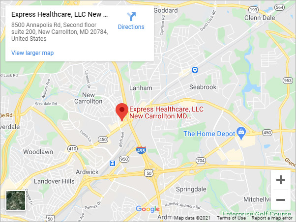 Directions to Express Healthcare Urgent Care in New Carrollton, MD