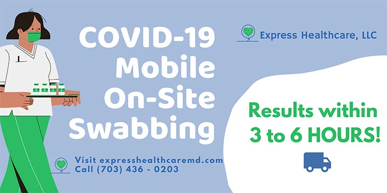 Mobile On-Site COVID-19 Testing Near Me in College Park MD, New Carrollton MD, Falls Church VA, Vienna VA