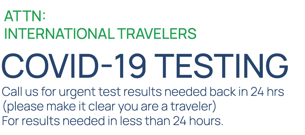 Attn: International Travelers - COVID-19 Testing - Welcome to Express Healthcare, Dr. Jamal Fadul MD