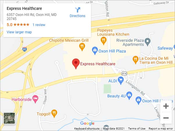 Get Directions to Express Healthcare Near Me in Oxon Hill, MD